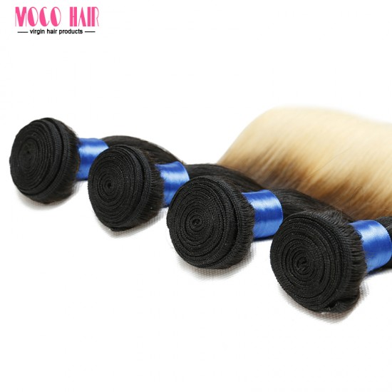 "Brazilian Hair Silky Straight Mix color 10""-28"" 100g"