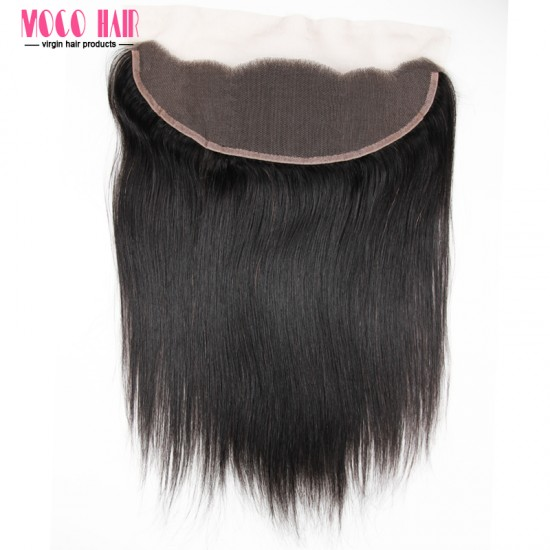 13x4 Virgin Hair Lace Frontal - Silky Straight 10-20 inch