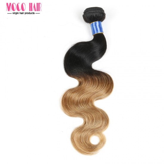 "Brazilian Hair Body Wave Ombre Color 10""-28"" 100g"