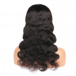U Part Wig Human Hair Body Wave Wig for Black Women 150 Density Brazilian Virgin Hair None Lace with Clips Glueless Half Wig Breathable