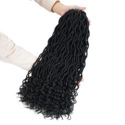 Crochet Goddess Locs Hair Extensions Faux Locs Curly Crochet Braids Ombre Kanekalon Braiding Hair Bohemian locs