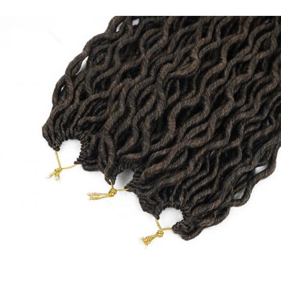 6 Pcks Passion Twist Crochet Goddess Locs Hair Extensions Faux Locs Curly Crochet Braids Ombre Kanekalon Braiding Hair Bohemian locs