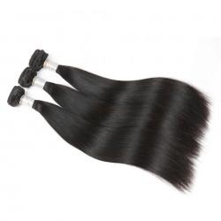 Brazilian Virgin Hair Silky Straight 100% Human Hair 3 Bundles Natural Color