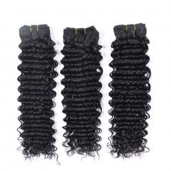 Brazilian Virgin Hair Deep Wave 100% Human Hair 3 Bundles Deal Natural Color