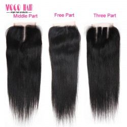 4x4 Virgin Hair Lace Cloure - Silky straight 8-20 inch