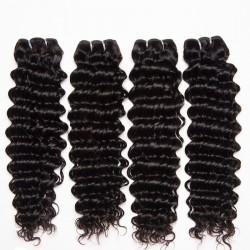4 Bundles Virgin Hair Deep Wave 100% Human Hair Extensions Double Weft No Shedding