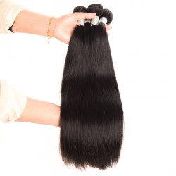 4 Bundles Virgin Hair Straight hair Bundles 100% Human Hair Extensions Double Weft No shedding