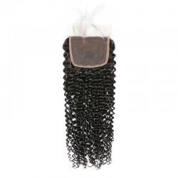 Brazilian Virgin Hair 3 Bundles With Lace Closure - Kinky Curl 14''-18''