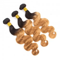 3 Bundles Pre-colored Ombre Human Hair Body Wave Hair Extensions