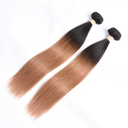 3 Bundles Pre-colored Ombre Human Hair Straight Hair Extensions