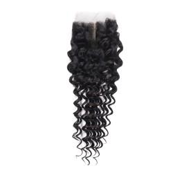 4x4 Virgin Hair Lace Closure Deep Wave 8-20 inch