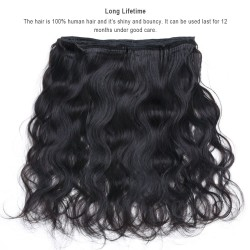 Malaysian Hair Extension 100% Human Hair Bundles 3PCS Natural Color -  Body Wave