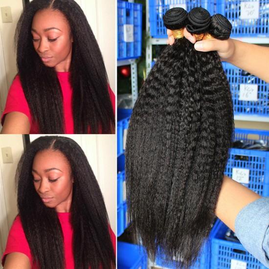 Brazilian Hair Weave Kinky Straight Hair