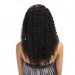 Brazilian Virgin Hair Kinky Curl 3 Bundles Deal Natural Color 100% Human Hair Extensions 12-28 Inch Unprocessed Hair Weave