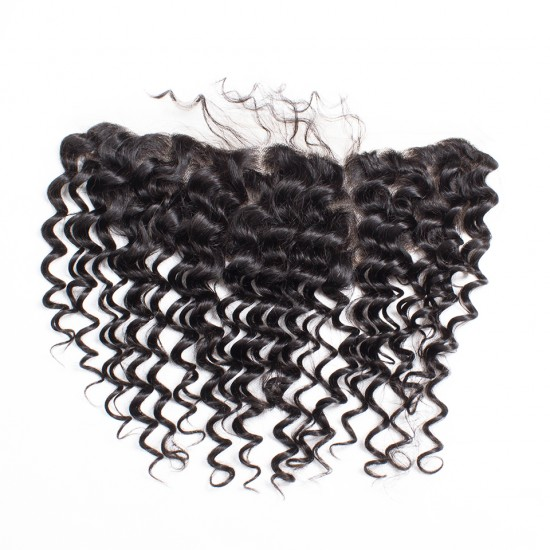 13x4 Virgin Hair Lace Frontal - Deep Wave 10-20 inch