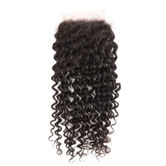 4x4 Virgin Hair Lace Closure Kinky Curl 8-20 inch