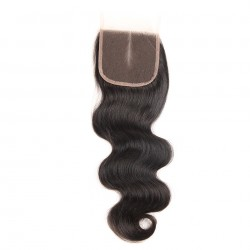 Brazilian Virgin Hair 3 Bundles With Lace Closure - Body Wave