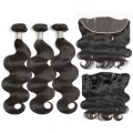 Body Wave Hair Bundles With Frontal