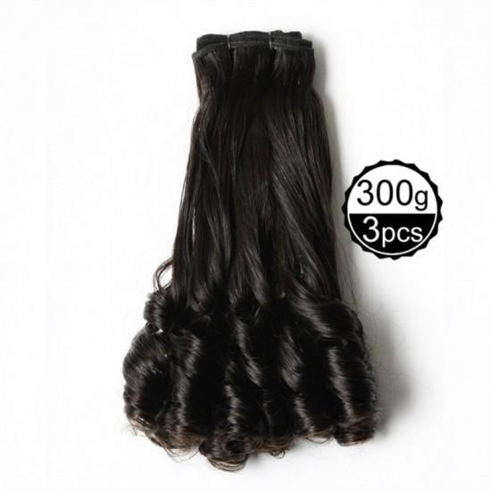 Funmi Hair 4 Bundles Natural Black Unprocessed Human Hair Spiral Curl Brazilian Virgin Hair 300g/lot