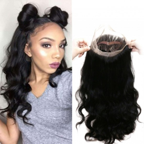 360 Lace Frontal Virgin Hair Full Lace Frontal Closure - Body Wave
