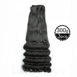 Funmi Hair 4 Bundles Natural Black Unprocessed Human Hair  Ocean Wave Brazilian Virgin Hair 300g/lot