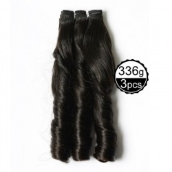 Funmi Hair 4 Bundles Natural Black Unprocessed Human Hair Romance Wave Brazilian Virgin Hair 336g/lot