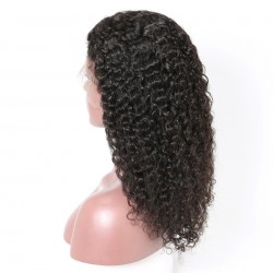 10A Kinky Curly Full Lace Human Hair Wigs With Baby Hair