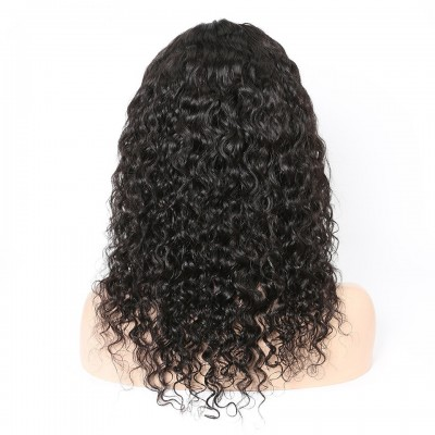 10A Water Wave 360 Lace Frontal Human Hair Wigs With Baby Hair