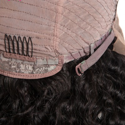 10A Lace Front Human Hair Wigs Water Wave Remy Hair Wig