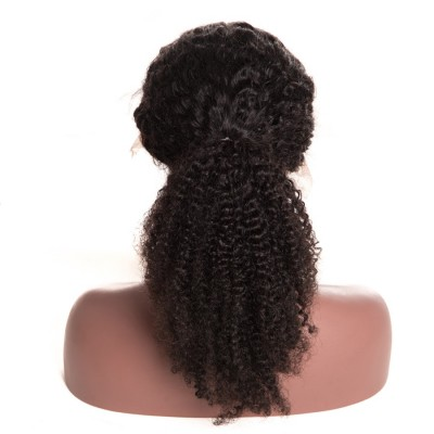 10A Afro Kinky Curly Lace Front Human Hair Wigs Pre Plucked Remy Hair