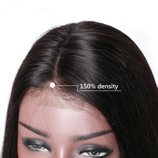2x6 Lace Front Human Hair Wigs Lace Closure Wig Pre Plucked Straight Lace Front Wig With Baby Hair