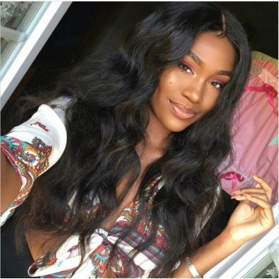 4x4 Lace Front Human Hair Wigs Natural Body Wave Pre Plucked Brazilian Remy Hair 4x4 Lace Front Wigs With Baby Hair