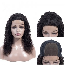 4X4 Lace Front Human Hair Wigs PrePlucked Deep Curly With Baby Hair Brazilian Human Hair Remy Hair Lace Front Wigs Full End
