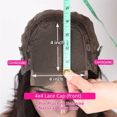 4X4 Brazilian Lace Front Human Hair Wigs Remy Hair Full End 4X4 Straight Lace Front Wigs For Women Free Shipping