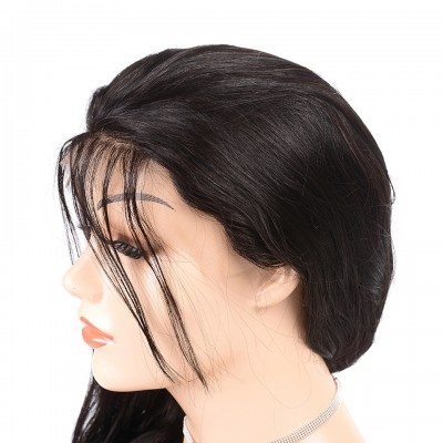 10A Indian Hair Lace Front Human Hair Wigs Body Wave Bob Wig Remy Short Human Hair Wigs Pre Plucked With Baby Hair