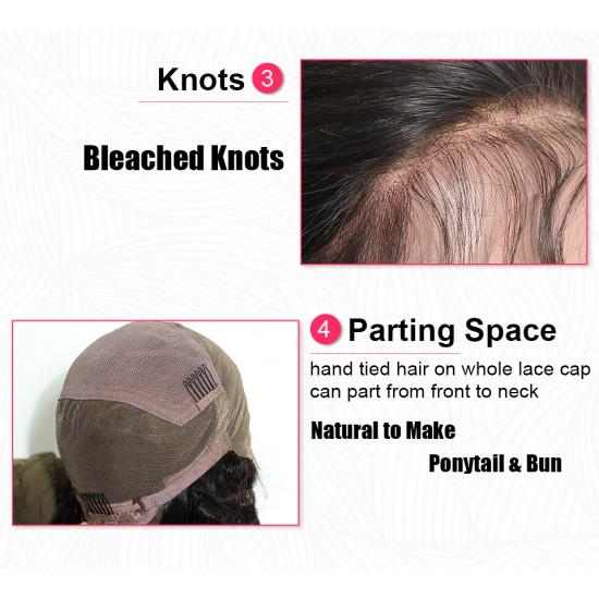 10A Body Wave Full Lace Human Hair Wigs Remy Hair