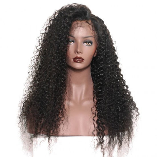10A Lace Front Human Hair Wigs Brazilian Curly Hair Lace Wig
